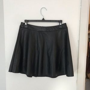 H&M Divided faux leather mini skirt